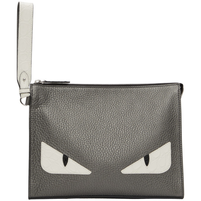Photo: Fendi Silver Bag Bugs Pouch