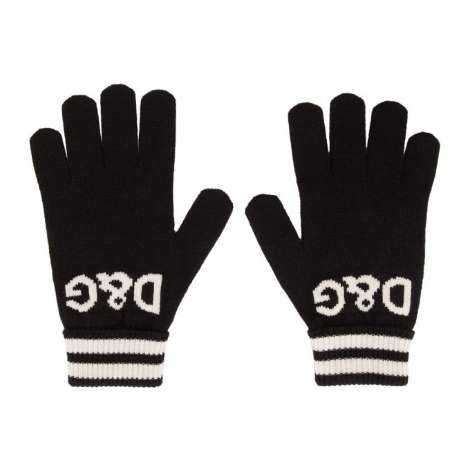 Photo: Dolce and Gabbana Black Cashmere DG Gloves