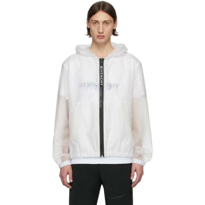 Photo: Givenchy White Transparent Windbreaker Jacket