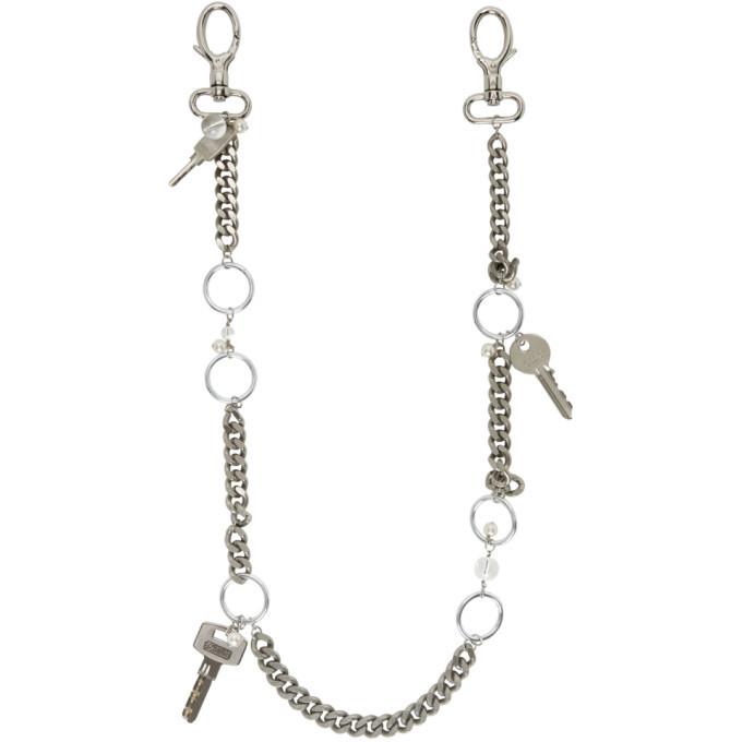 Photo: Marine Serre Silver Pearl Chain Bag Strap