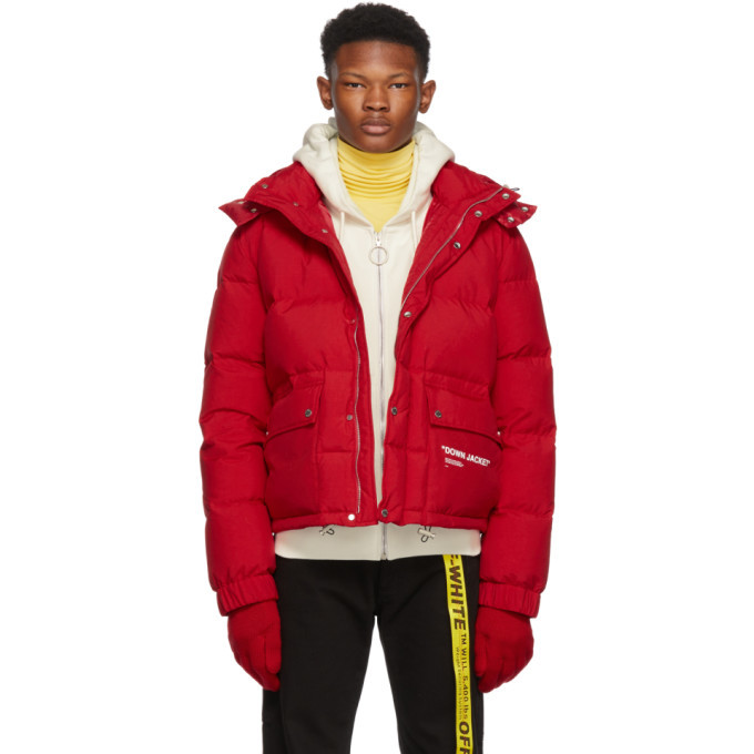 Photo: Off-White Red Quote Down Jacket