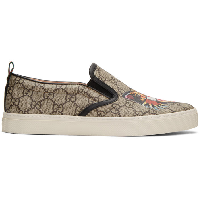 Gucci Beige GG Supreme Angry Cat Dublin