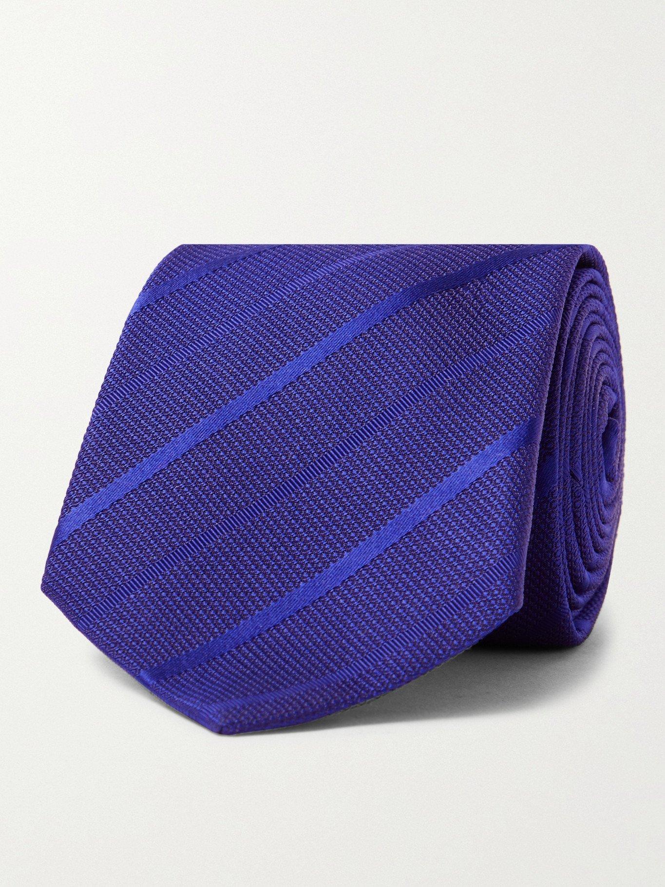Photo: PAUL SMITH - 8cm Striped Silk Tie - Blue