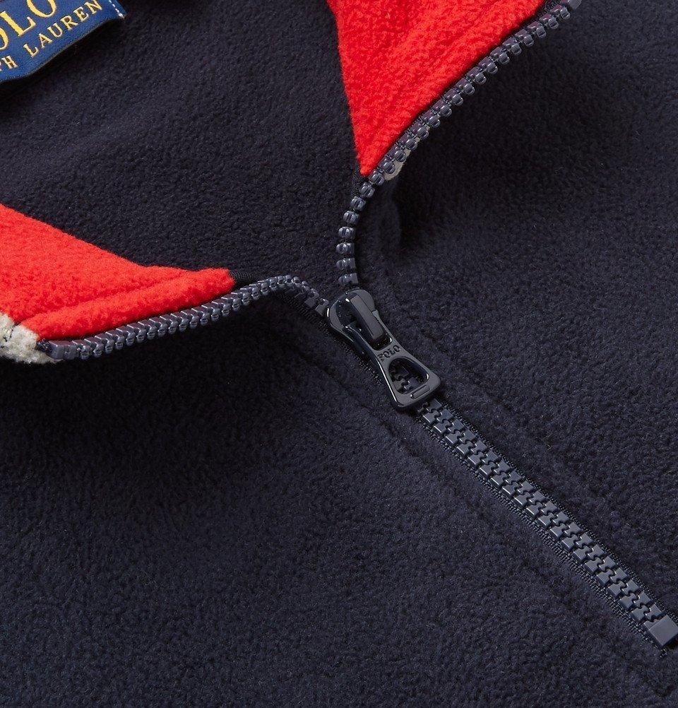 Polo Ralph Lauren - Logo-Appliquéd Fleece Half-Zip Sweatshirt - Men - Navy 455bb56c0fe