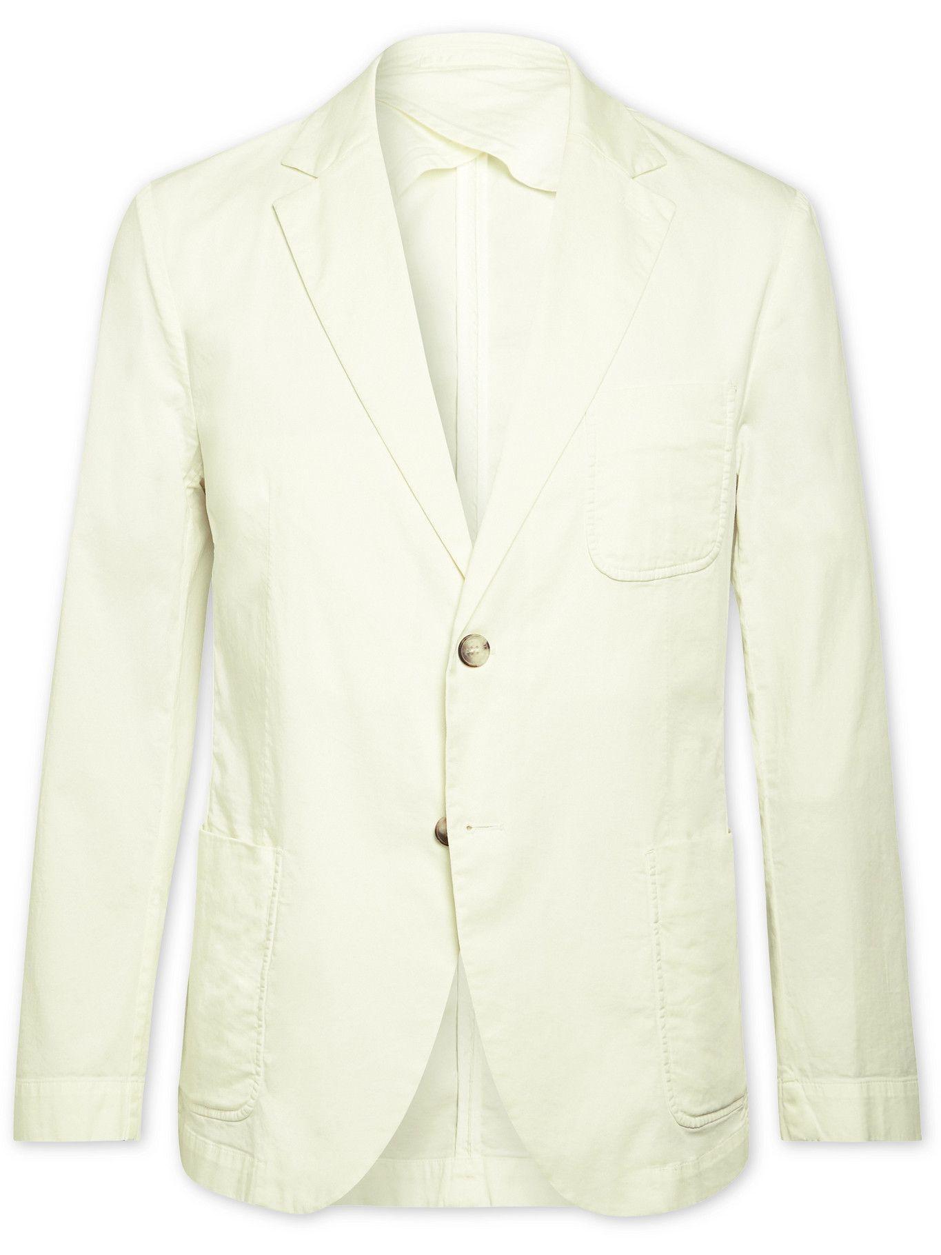 Photo: Frescobol Carioca - Paulo Unstructured Cotton-Blend Blazer - Neutrals