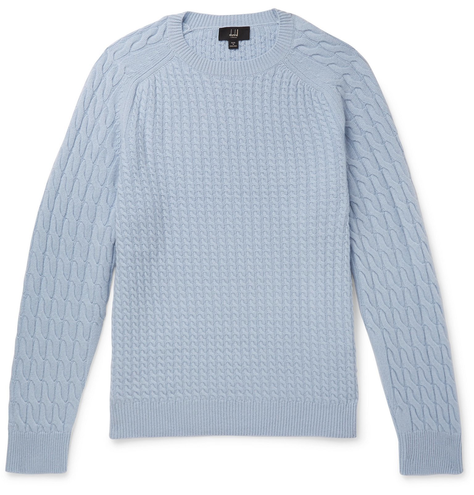 Dunhill - Cable-Knit Cashmere Sweater - Blue