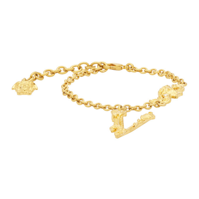 Photo: Versace Gold V Leaves Bracelet