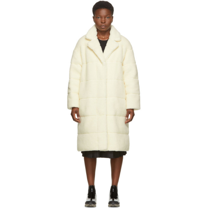 Photo: Moncler Off-White Reversible Bagaud Sherpa Coat