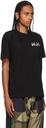 Sacai Black KAWS Edition Embroidery T-Shirt