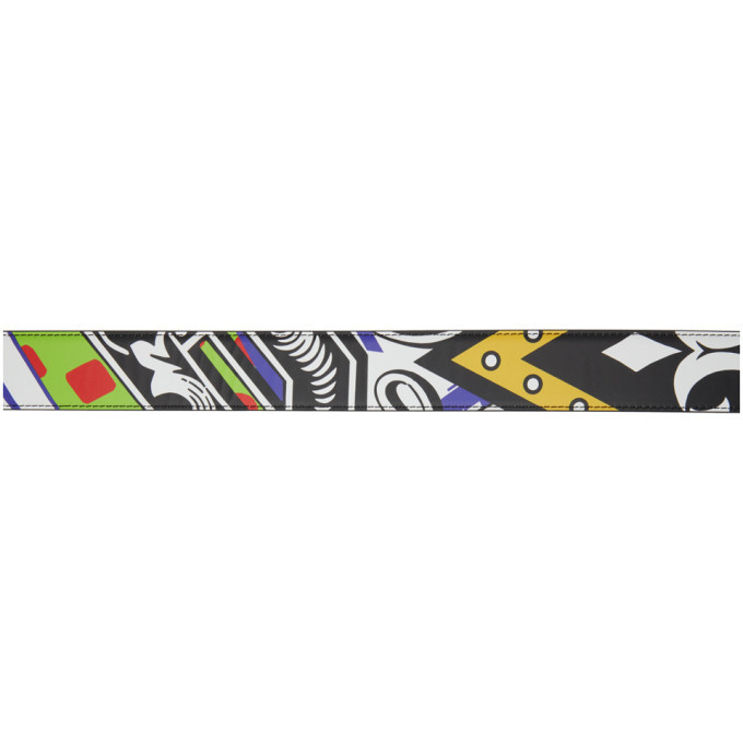 Versace Multicolor Collage Medusa Belt