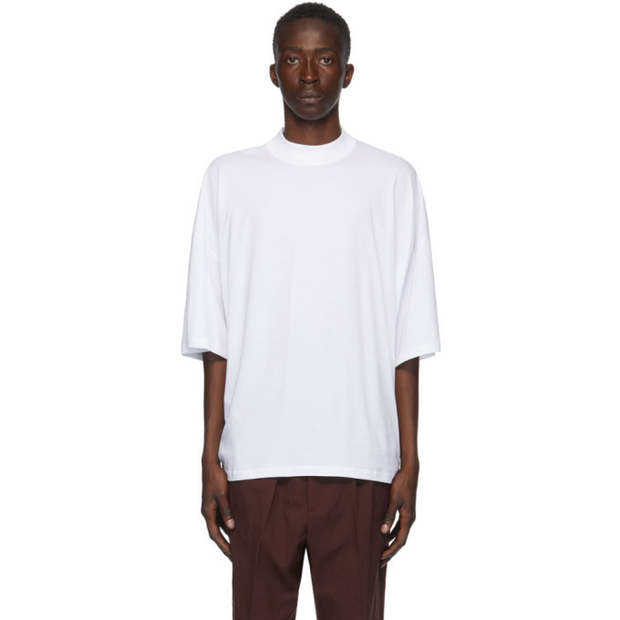 Photo: Jil Sander White Mock Neck T-Shirt