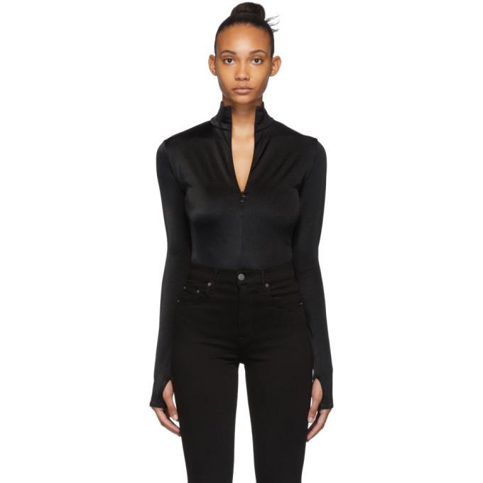 Photo: Wolford Black Shimmering Glass String Bodysuit