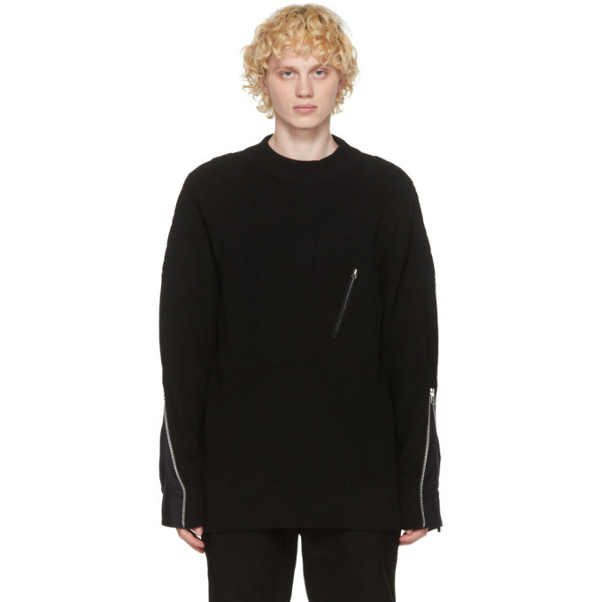 Photo: Sacai Black Wool Sweater