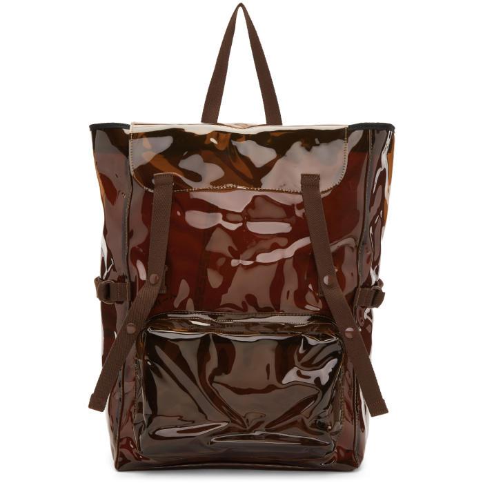 Raf Simons Brown Eastpak Edition Volume Topload Backpack
