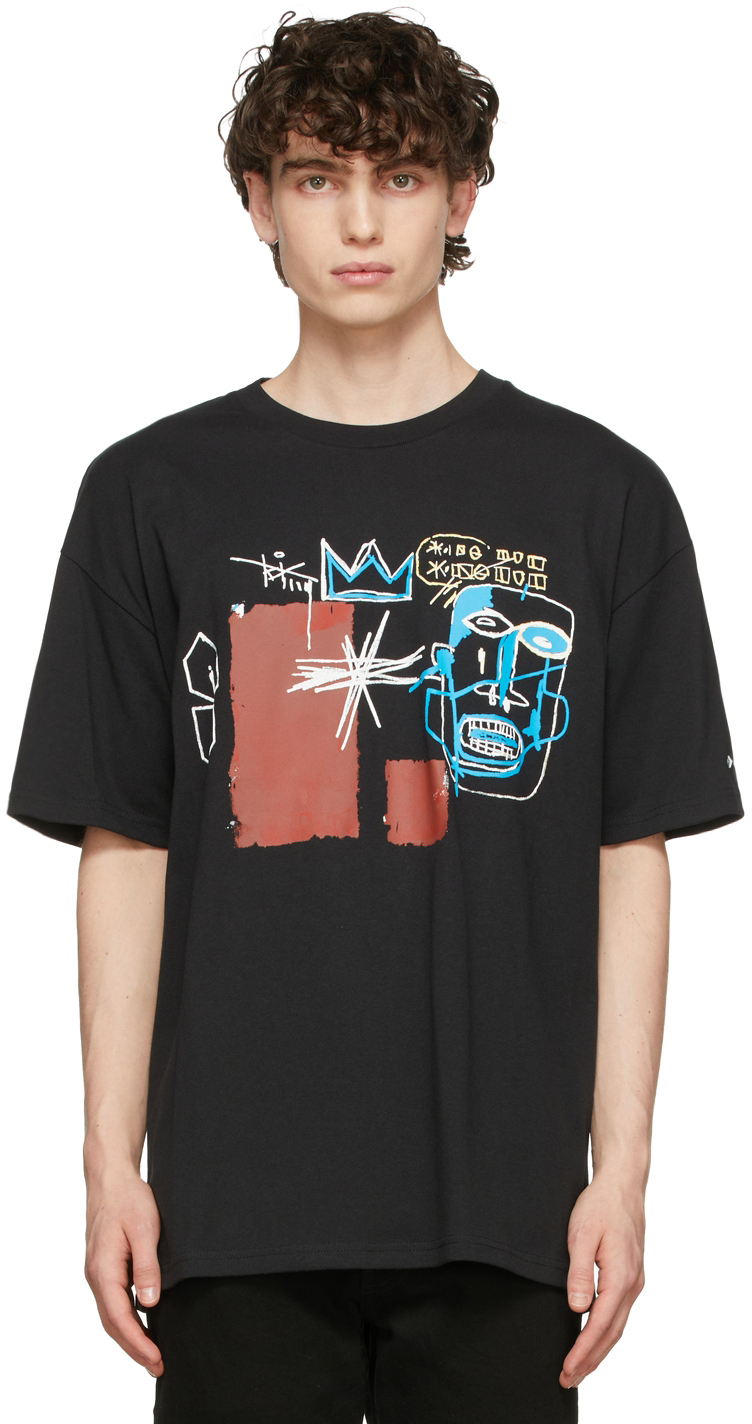 Photo: Converse Black Jean-Michel Basquiat Edition Loose Fit T-Shirt