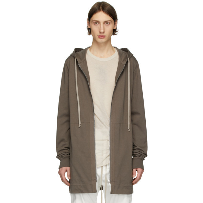 Photo: Rick Owens Grey Zip-Up Hoodie