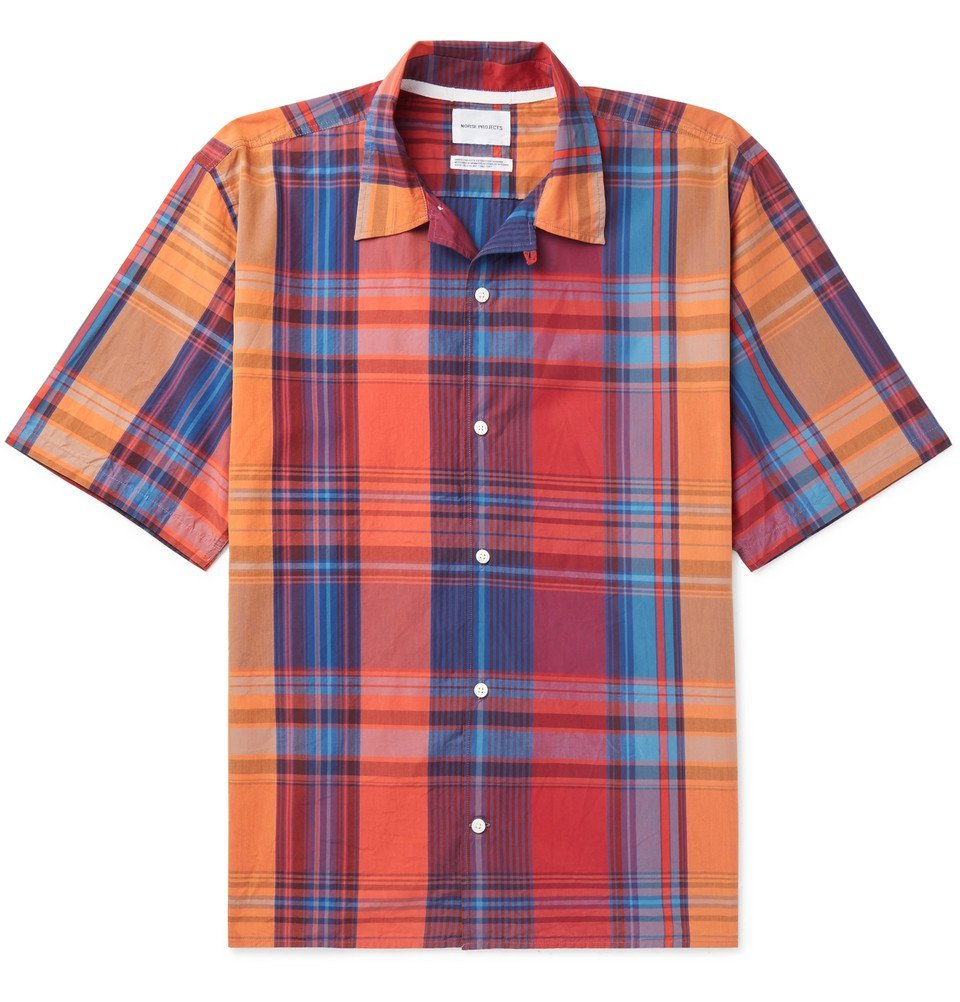Photo: Norse Projects - Carsten Checked Cotton Shirt - Men - Red