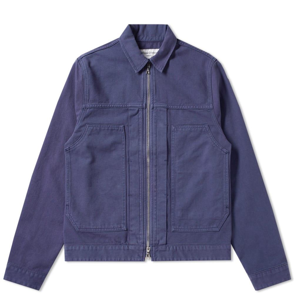 Photo: Officine Generale Cilian Garment Dyed Zip Denim Jacket
