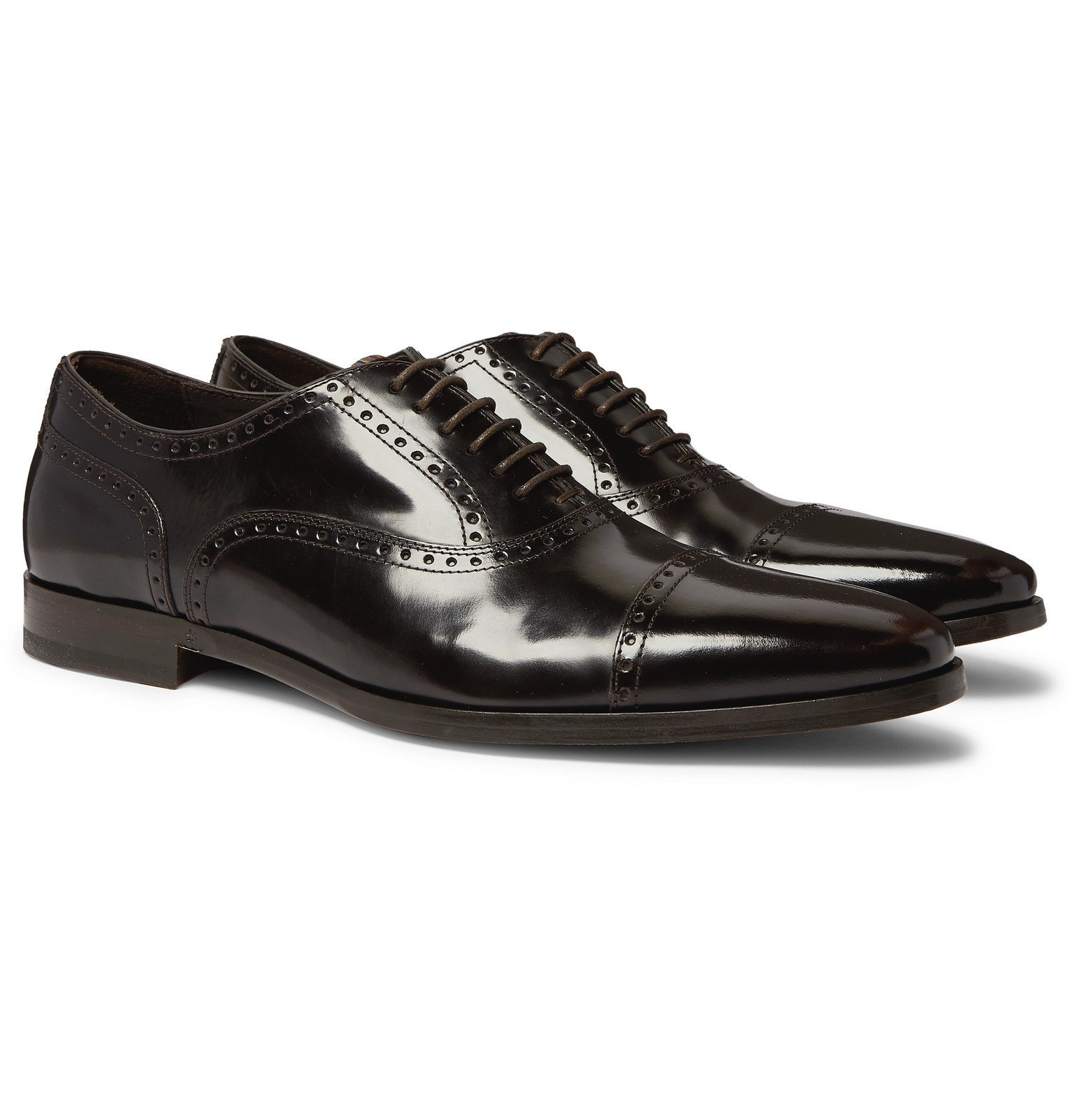 Photo: Paul Smith - Shaw Polished-Leather Brogues - Brown