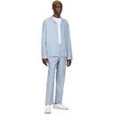 Sunspel Blue and White Striped Pyjama Pants