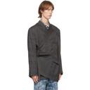 Martine Rose Black Virgin Wool Oversized Twist Blazer