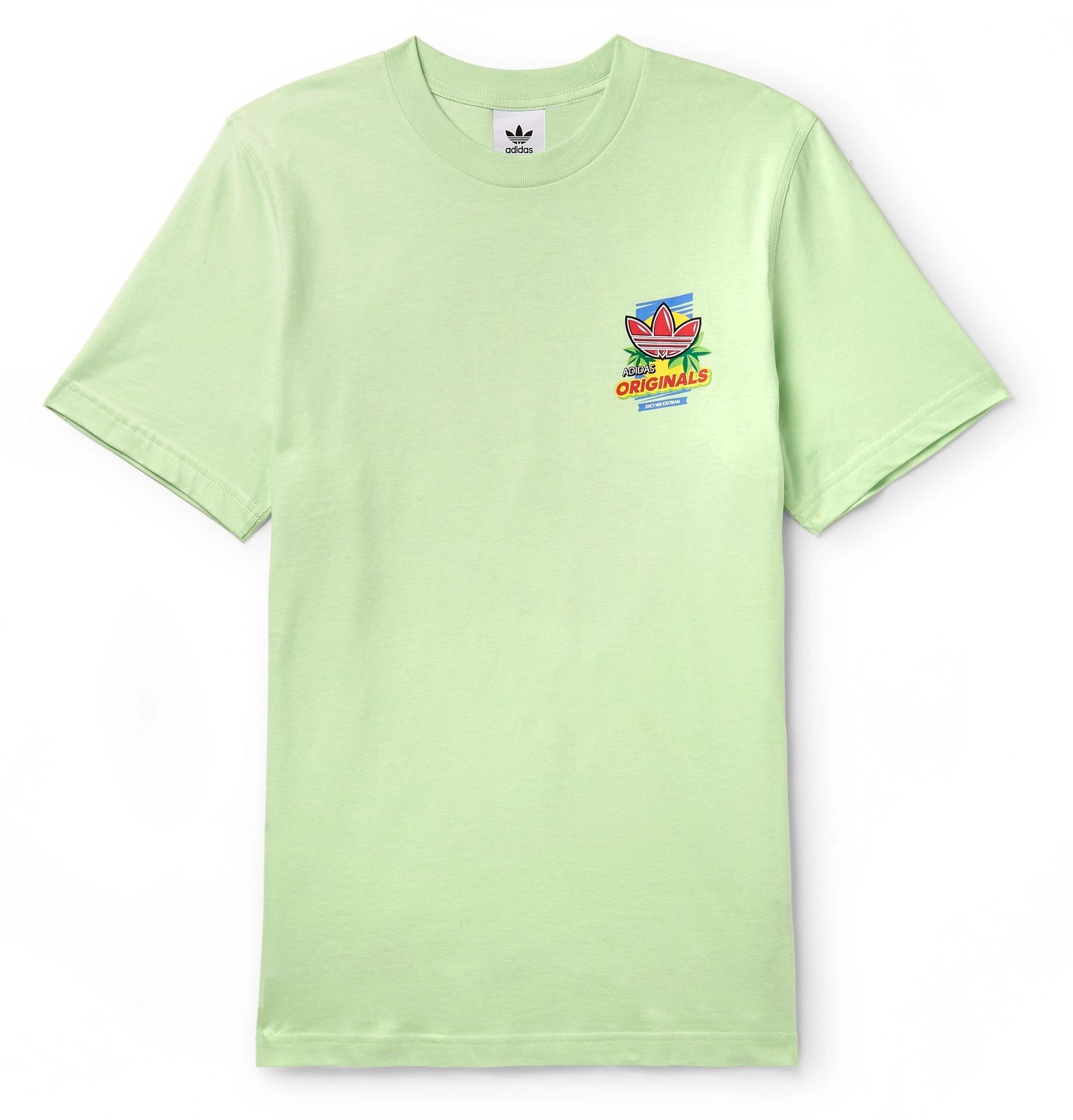 Photo: adidas Originals - Printed Cotton-Jersey T-Shirt - Green
