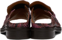 Martine Rose Pink Snake Open Toe Loafers