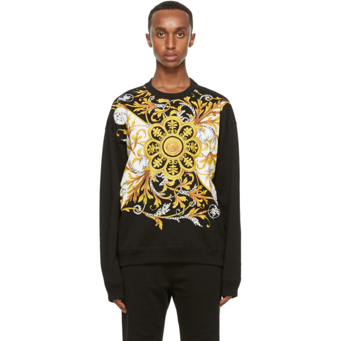 Photo: Versace Black Barocco Mitchel Sweatshirt