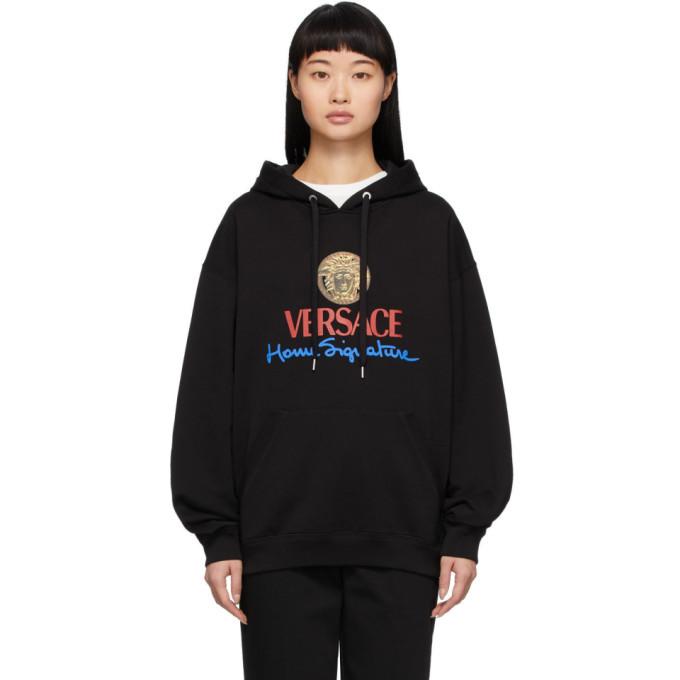 Versace Black Logo Home Signature Hoodie