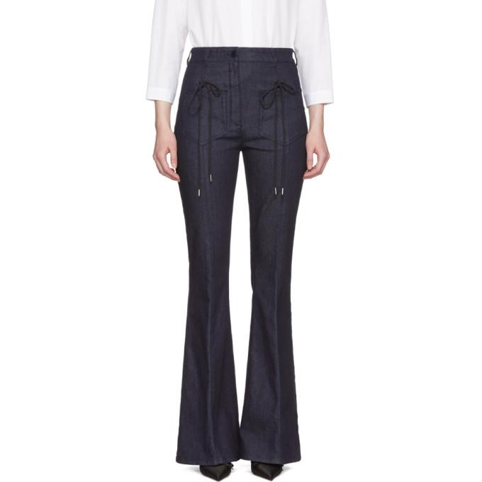 Nina Ricci Indigo Slim Flared Jeans