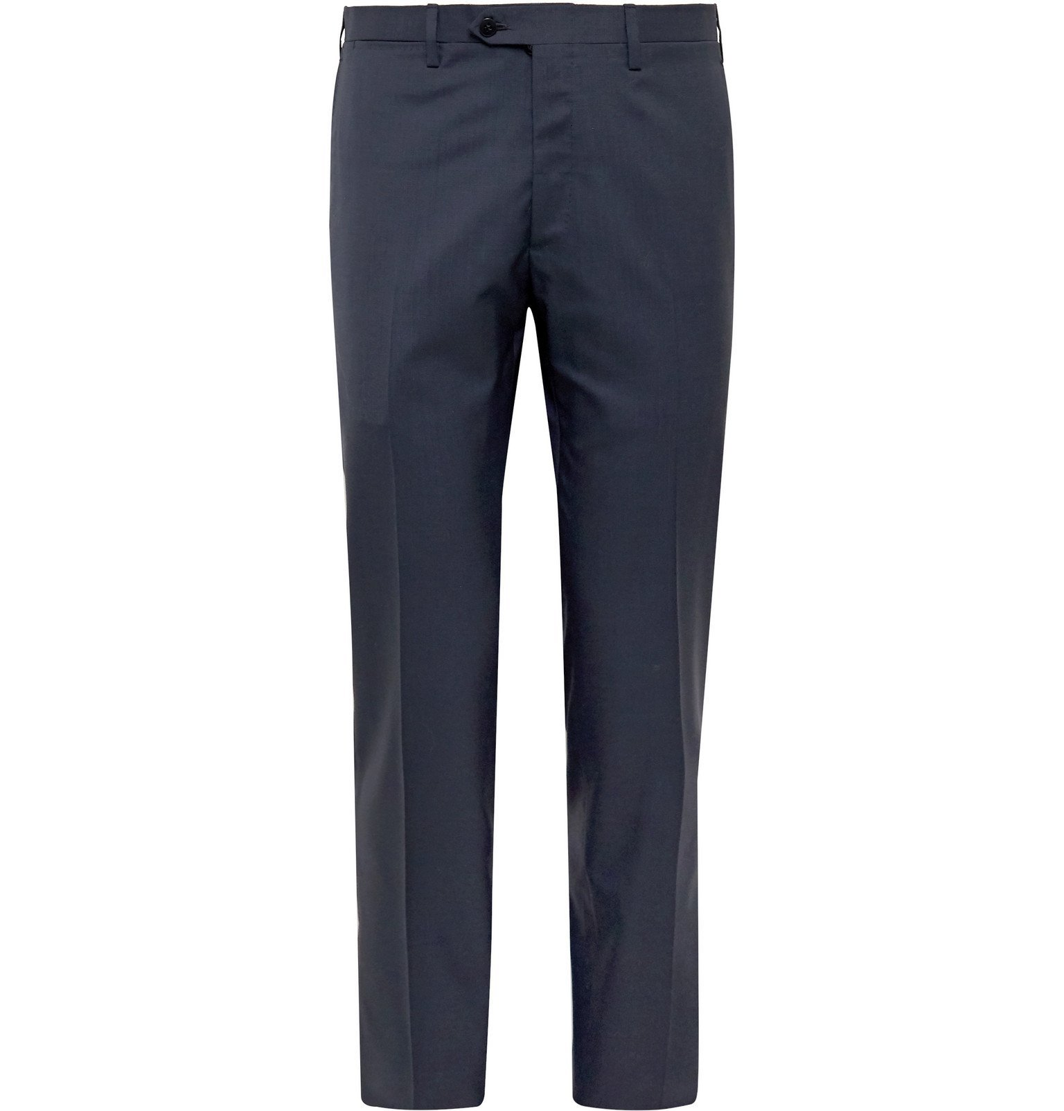 Photo: Kiton - Slim-Fit Puppytooth Cashmere Suit Trousers - Blue