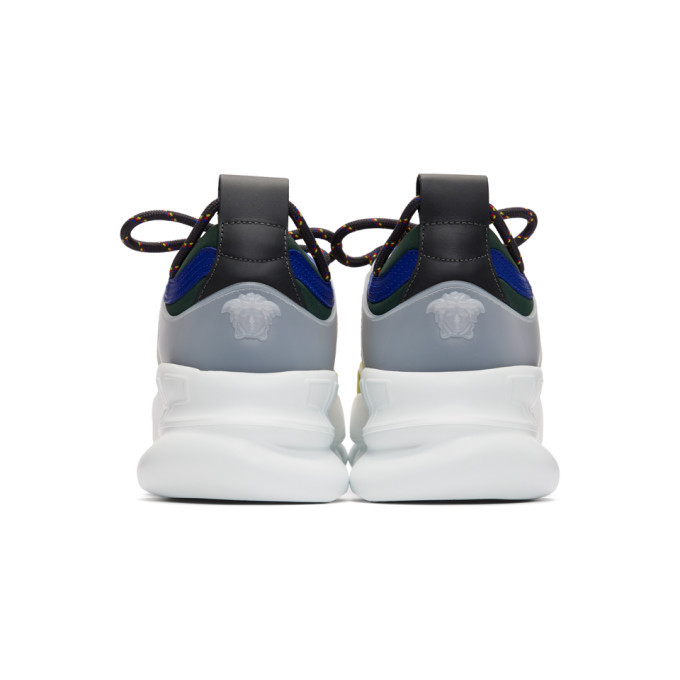 Versace White Barocco Chain Reaction Sneakers