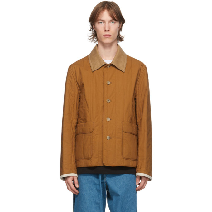 Photo: Lanvin Reversible Brown Quilted Shirt Jacket