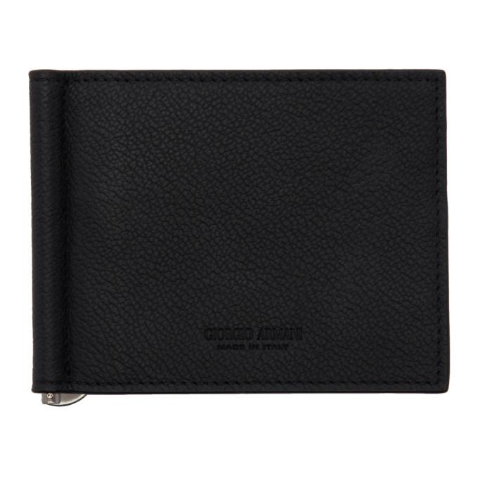 Giorgio Armani Black Money Clip Wallet