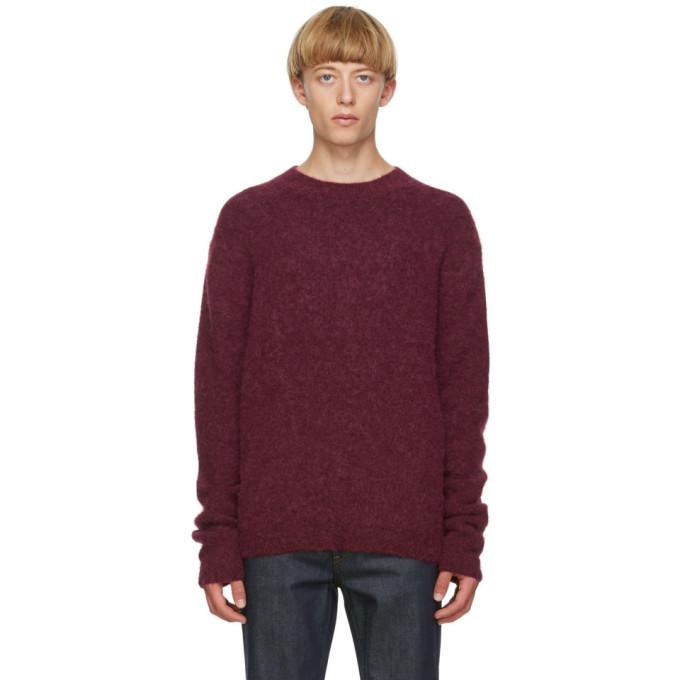 Photo: Acne Studios Burgundy Wool and Alpaca Sweater
