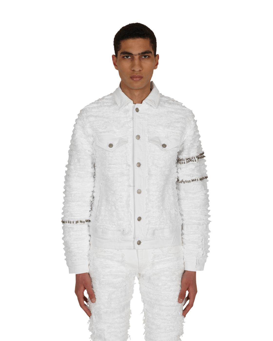 Photo: 1017 Alyx 9sm Blackmeans Studded Denim Jacket White