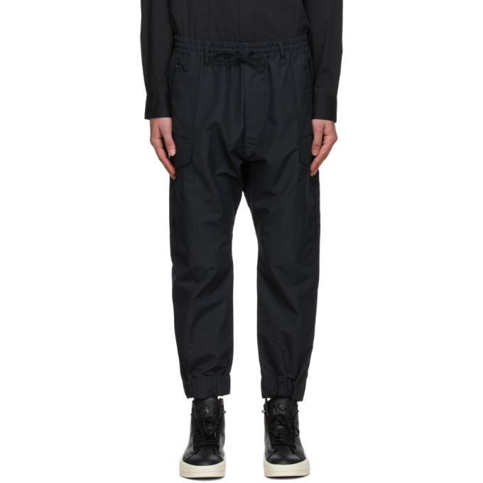 Photo: Y-3 Black Nylon Classic Winter Cargo Pants