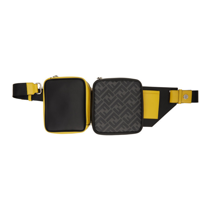 Photo: Fendi Black and Yellow Multi Pouch Forever Fendi Belt Bag