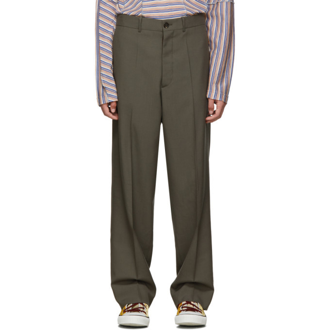 Photo: Marni Grey Tropical Wool Straight Trousers