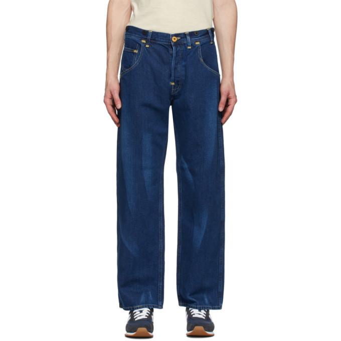 Photo: Junya Watanabe Indigo Levis Edition Linen Print Jeans