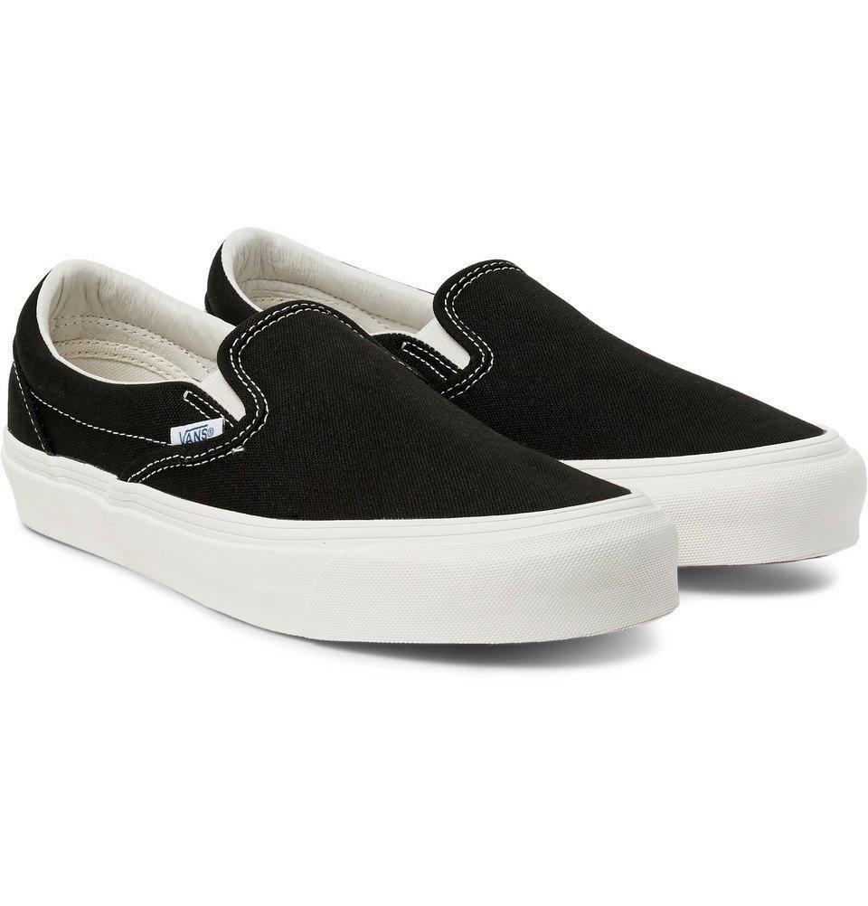Photo: Vans - OG Classic LX Canvas Slip-On Sneakers - Black