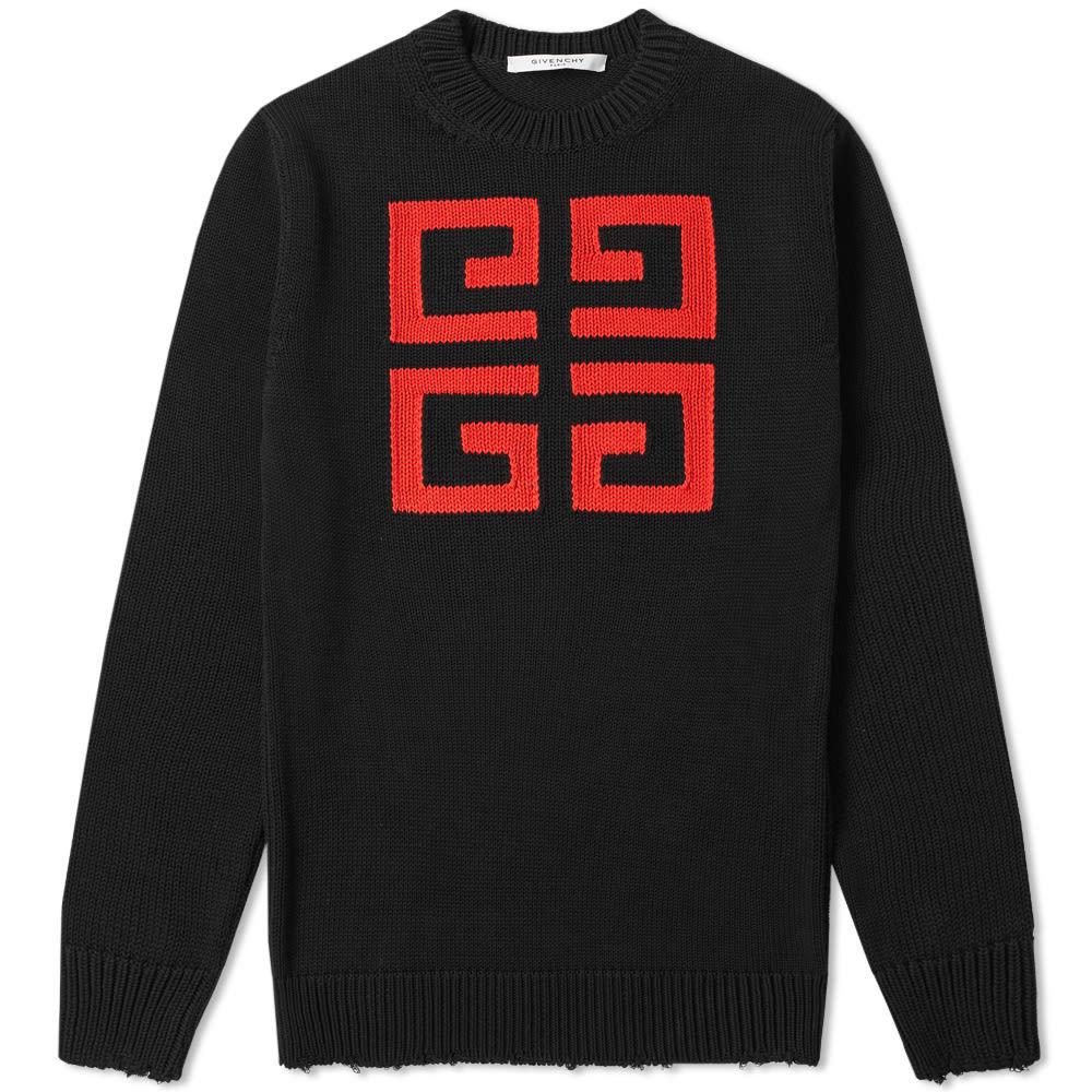 Photo: Givenchy 4G Jacquard Crew Knit