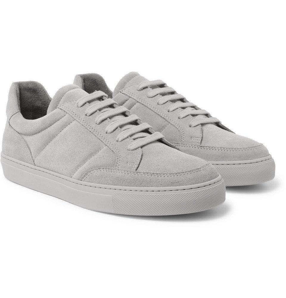Photo: Officine Generale - Corey Suede Sneakers - Light gray