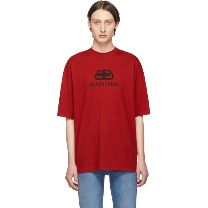 Balenciaga Red BB T-Shirt Balenciaga