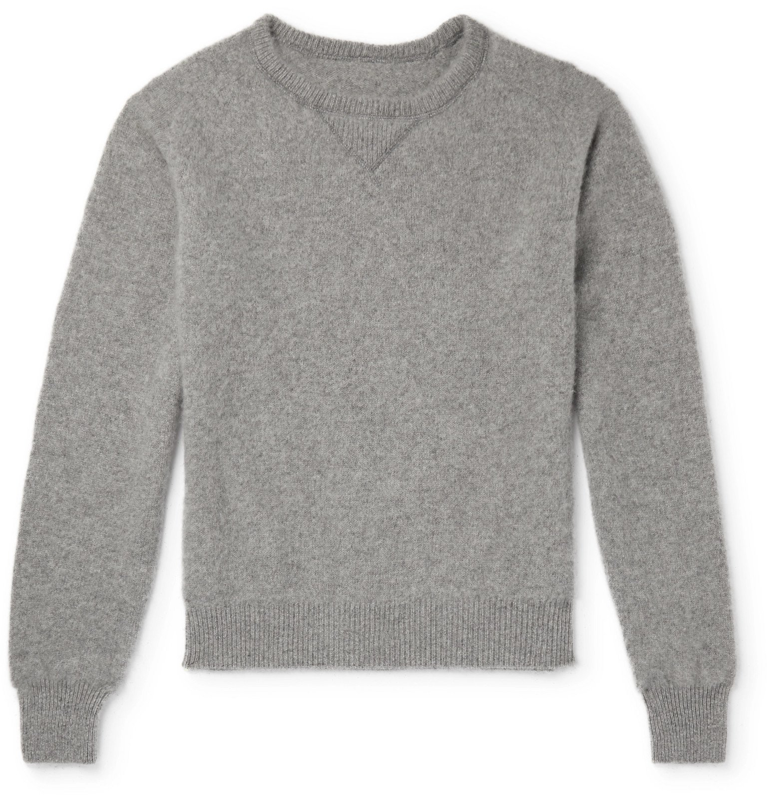 Photo: Secondskin - Brushed-Cashmere Sweatshirt - Gray