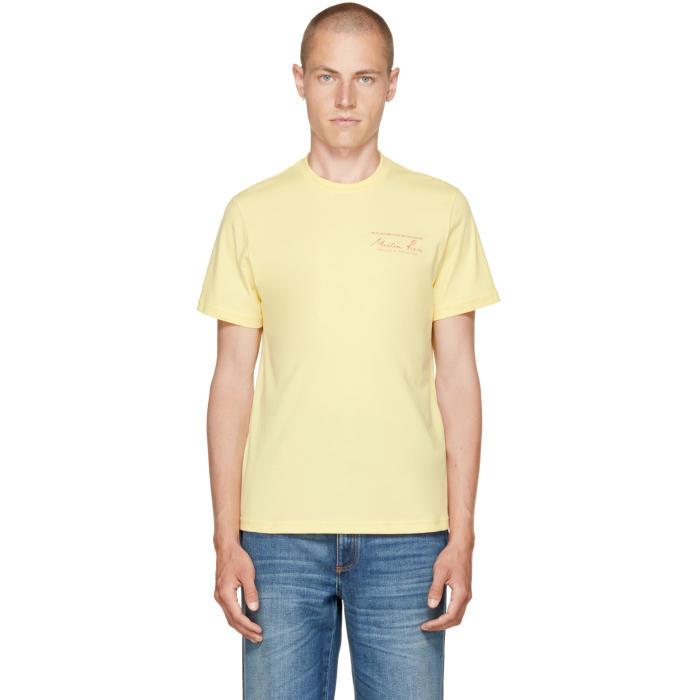 Martine Rose Yellow Classic Logo T-Shirt