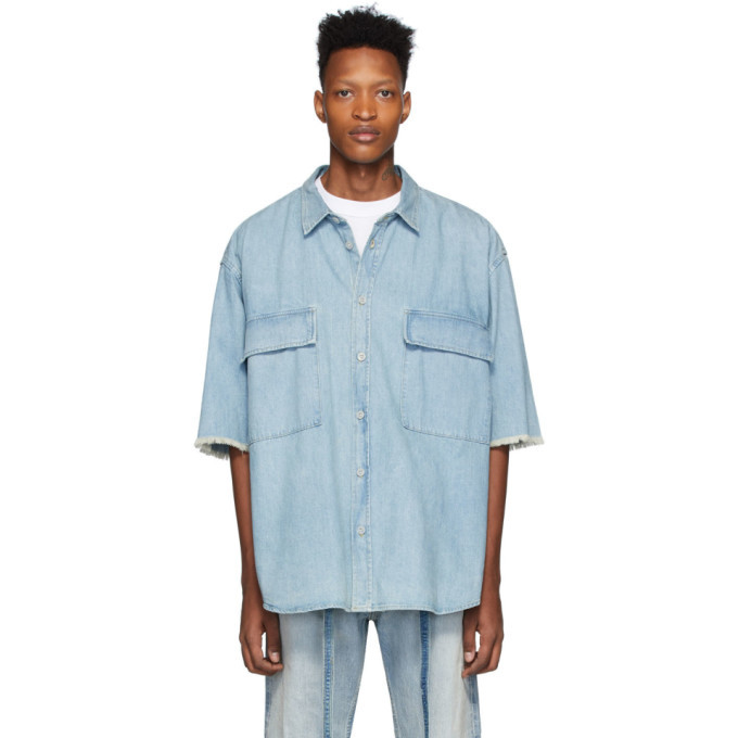 Photo: Fear of God Blue Denim Shirt