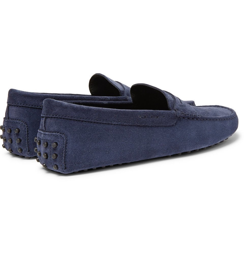 Tod's - Gommino Suede Driving Shoes - Navy
