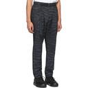 Sacai Grey and Black Satin Zebra Trousers
