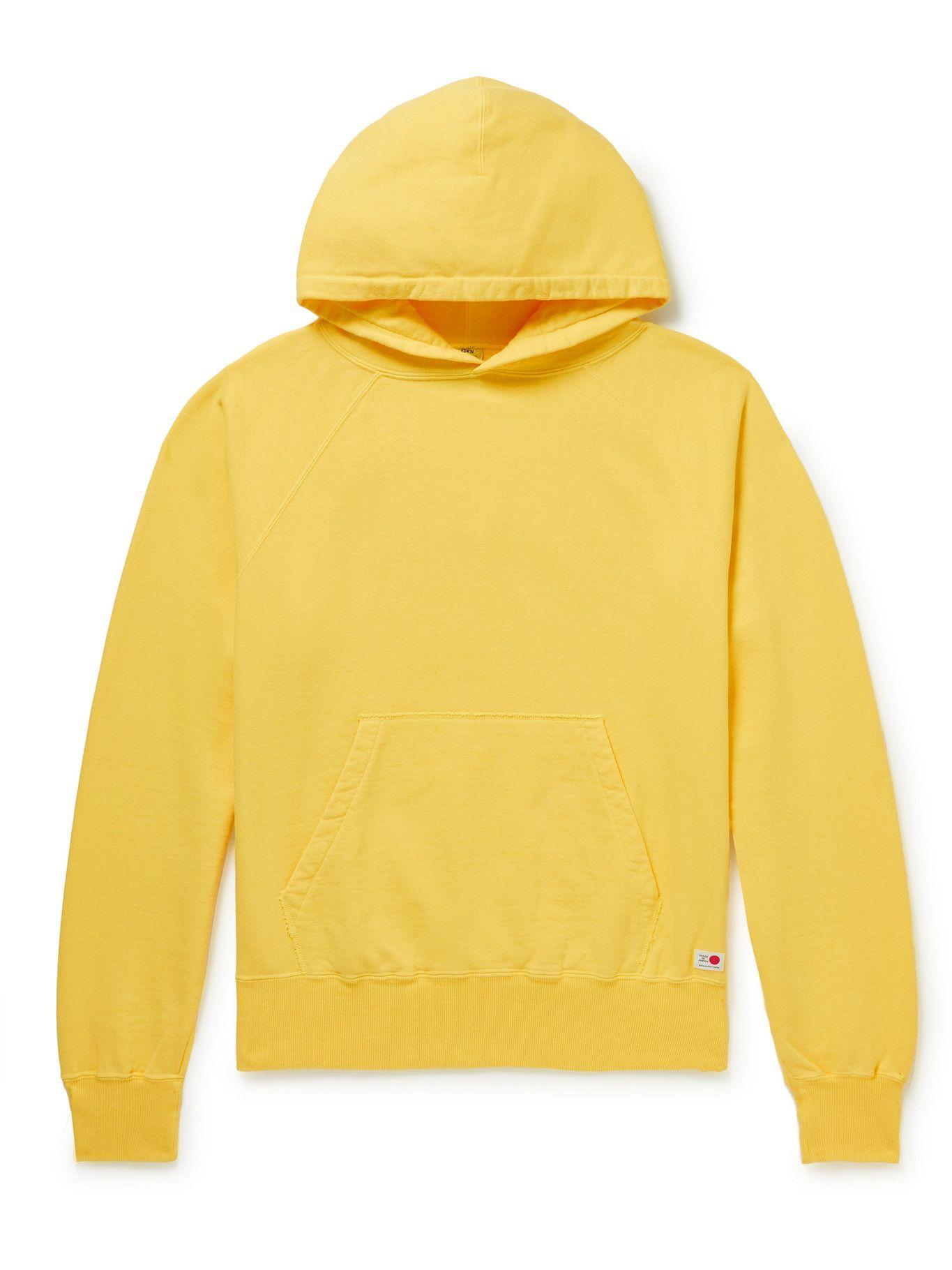 Photo: EDWIN - Cotton-Jersey Hoodie - Yellow